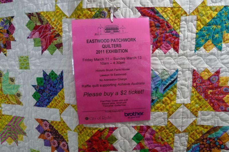 Eastwood quilt flyer