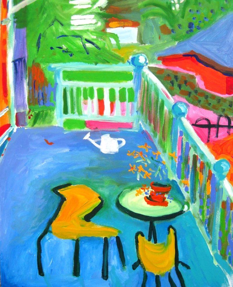 My back verandah  K Thompson 300 x 8